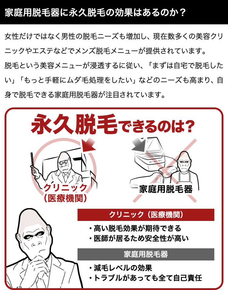 家庭用脱毛器とクリニック医療レーザー脱毛の効果の違い   メンズ永久 ...
